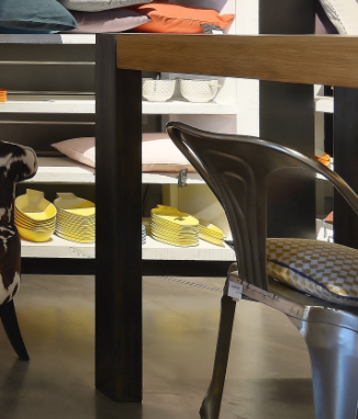 Table mange debout bois et m tal la galerie alr enne - Mange debout bois metal ...