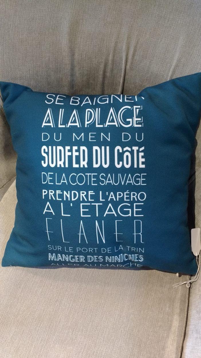 Coussin bleu coast   La Galerie Alréenne