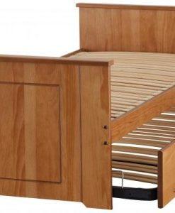 Lit gigogne avec cadre en bois