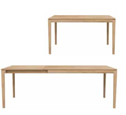 table de repas extensible chene ethnicraft la galerie alr enne. Black Bedroom Furniture Sets. Home Design Ideas