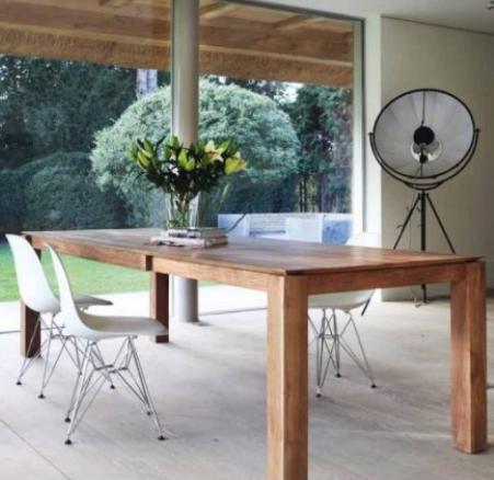 table extensible slice en teck la galerie alr enne. Black Bedroom Furniture Sets. Home Design Ideas