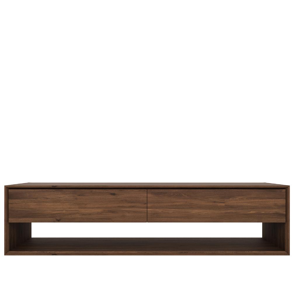 meuble tv en noyer nordic ethnicraft la galerie alr enne. Black Bedroom Furniture Sets. Home Design Ideas