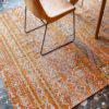 tapis kilim orange best 2