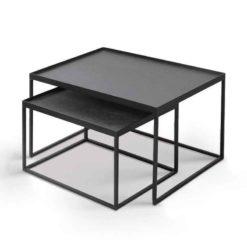 set de tables basses pour plateaux rectangulaires taille S/L Ethincraft