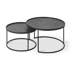 set de tables basses pour plateaux ronds S/L ethnicraft