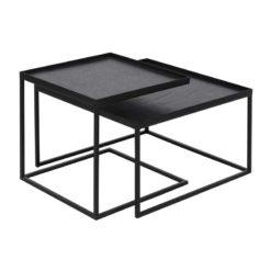 set de tables basses pour plateaux carrés S/L Ethnicraft
