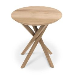 table d'appoint ronde mikado en chêne Ethnicraft