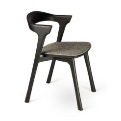 chaise bok en chene noir vernis gris ethnicraft