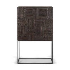 armoire tabwa en teck noir vernis ethnicraft